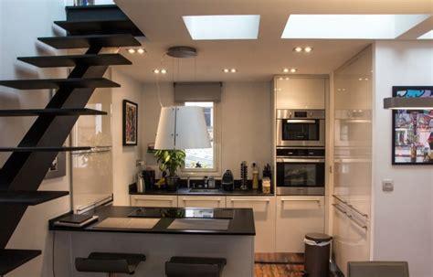 cuisine amenagée dans un petit duplex