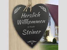 Schieferherz Familie personalisiert mit Wunschnamen