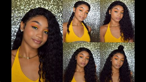 5 cute easy back to school hairstyles for curly wavy hair ft lavy hair youtube