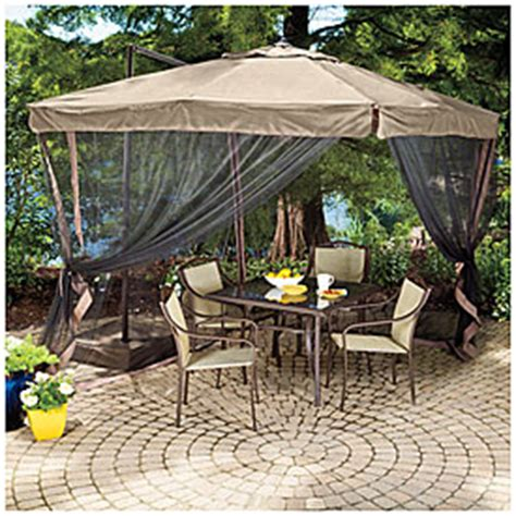 square patio umbrella with netting wilson fisher 8 5 x 8 5 square offset umbrella with