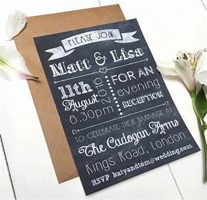 chalkboard evening wedding invitation by peardrop avenu With watch a wedding invitation online eng sub
