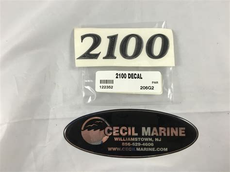 Parker Boats Decals by 2100 Parker Hull Designation Decal Cecil Marine