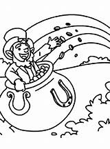 Leprechaun Coloring Pot Gold Pages Rainbow Inside Printable Coin Dali Salvador Getcolorings Getcoloringpages Getdrawings sketch template