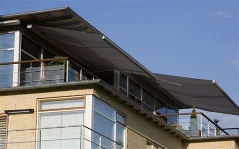 retractable awnings    pitch adjustment feature     raise