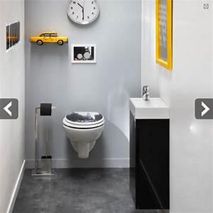 Cuvette Wc Bois : wc de couleur gris meilleures images d 39 inspiration pour ~ Premium-room.com Idées de Décoration