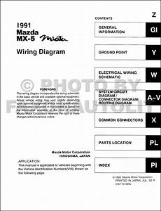 1991 Mazda Mx 5 Miata Wiring Diagram Manual Original