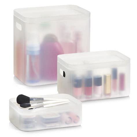 boites de rangement produits de salle de bains plastique