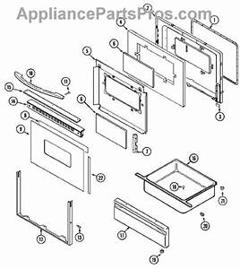 Parts For Maytag Mer5730aaw  Door    Drawer Parts