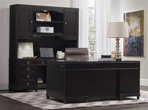 hooker furniture kendrick dark wood    rectangular junior executive desk hoo