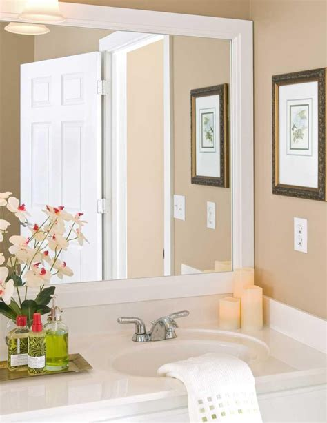 Bathroom Mirrors White Frame white framed bathroom mirrors mirrors white bathroom
