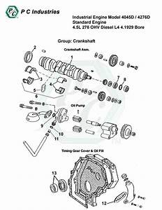 Industrial Engine Model 4045d    4276d Standard Engine 4 5l