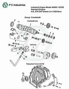 Industrial Engine Model 4045d    4276d Standard Engine 4 5l 276 Ohv Diesel L4 4 1929 Bore
