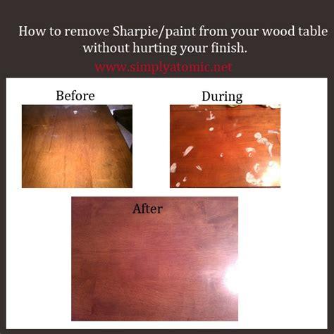 remove sharpie  paint   wood table