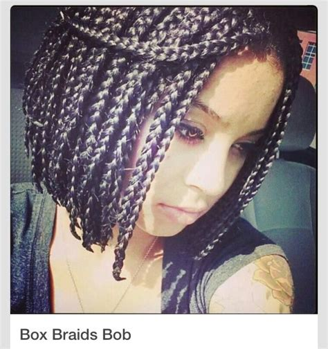 bob hairstyle with braids box braid bob hairstyle braids buns and ponytails