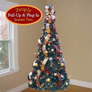 artificial christmas trees burgundy gold pre decorated pop up artificial christmas tree pop
