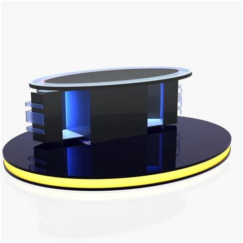 news desk for sale virtual tv studio news desk 12 3d model buy virtual tv