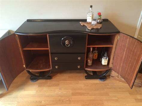 Mini Bar Cabinet by 1930s Refinished Deco Mini Bar Cabinet Antique For