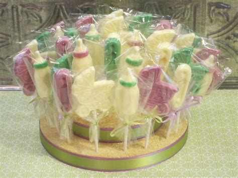 Baby Shower Lollipop Centerpiece.
