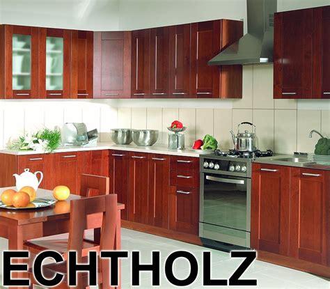 Kuche Echtholz by K 252 Che L From Echtholz Massiv Einbauk 252 Che 4 Fronten