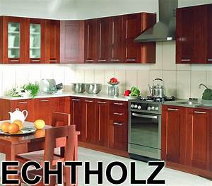 L Küche Günstig : k che l from echtholz massiv einbauk che 4 fronten w hlbar g nstig preiswert ebay ~ Frokenaadalensverden.com Haus und Dekorationen