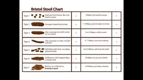 stool colour chart meanings bristol stool chart