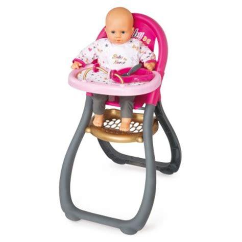 chaise haute pour poup 233 e baby jeux et jouets smoby avenue des jeux