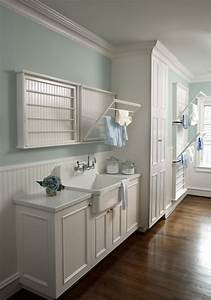 Startling wall mounted drying racks for laundry room for Laundry room drying rack ideas