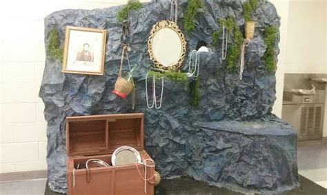 mermaid ariels grotto stage set designs