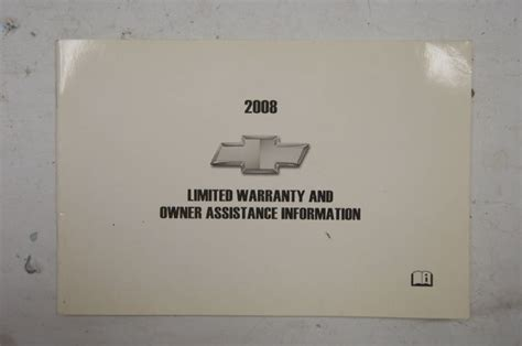 chevrolet warranty owners assistance information