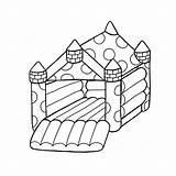 Castle Drawing Bouncy Getdrawings sketch template