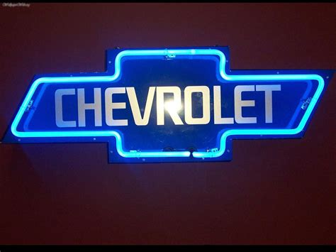 Neon Chevy Sign, Picture Nr. 25393