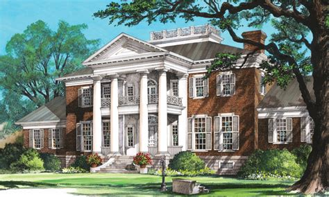 Southern Plantation Home Plans by House Plan Southern Plantation Mansions Plantation