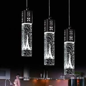 New tower led crystal ceiling light bubble bar pendant