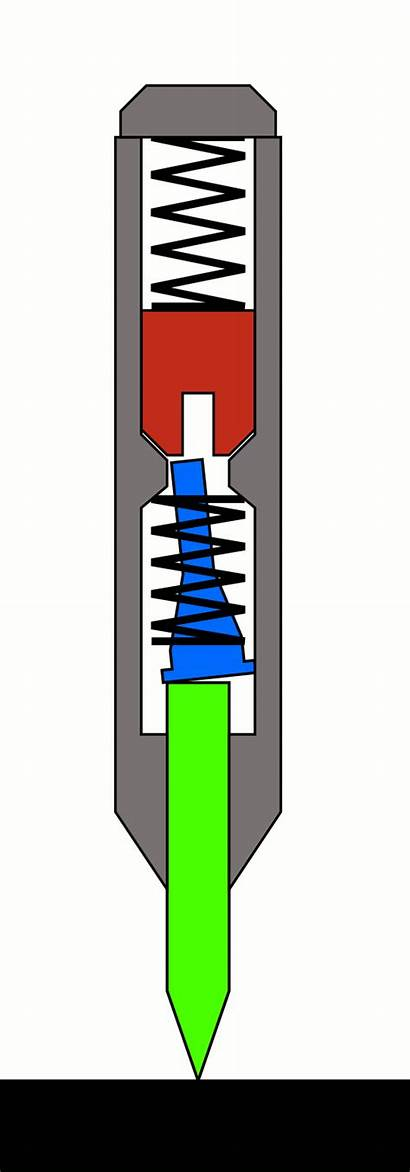 Punch Automatic Center Animation Spring Operation Mechanism