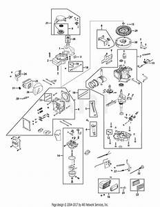 Mtd 1p70c0 Engine Parts Diagram For Engine Assembly 1p70c0