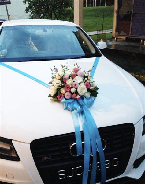 bridal car decorations door handle ribbons from 170 onwards wed09 floral garage singapore