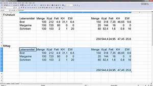 Kalorienbedarf Berechnen Formel : eigene kalorientabelle erstellen mit excel oder open office calc youtube ~ Themetempest.com Abrechnung