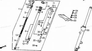 Honda Motorcycle 1985 Oem Parts Diagram For Front Fork