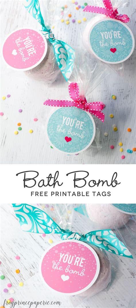 printable bath bomb tags teacher gifts teacher