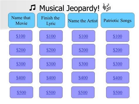 therapy games musical jeopardy  older adults
