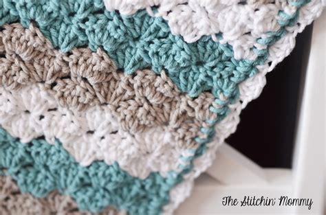shell stitch crochet shell stitch baby blanket free pattern