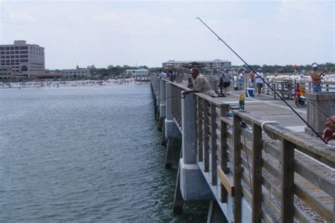 pier fishing florida guide jacksonville anglers beach plenty packed afternoon early visitflorida