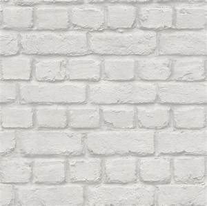 Mur Effet Brique : rasch blanc effet brique caract ristique mur de design papier peint 226713 ebay ~ Melissatoandfro.com Idées de Décoration