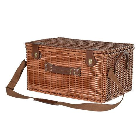 Large Wicker Picnic Basket / 4 Servings   Mulberry Moon