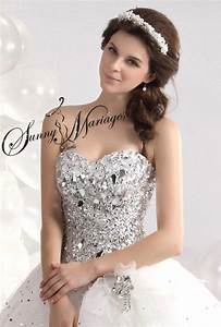 Robe Mariée Courte Pas Cher : robe de mariage forme princesse blanche avec bustier coeur et sunny mariage ~ Mglfilm.com Idées de Décoration