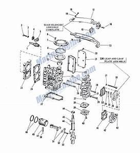 Johnson Powerhead Group Parts For 1961 3hp Jw