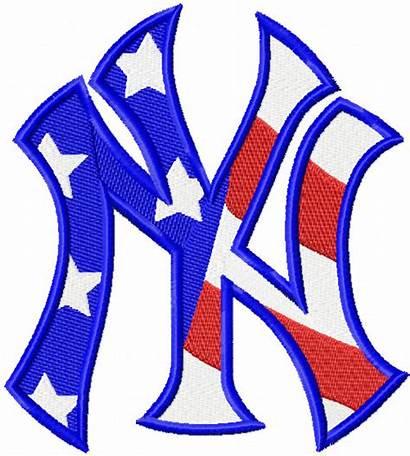 Yankees York Embroidery Flag Clipart Logos Machine