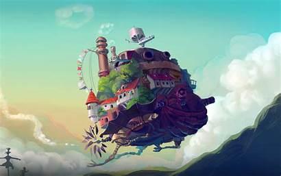 Ghibli Studio Anime Castle At58 Peace 4k