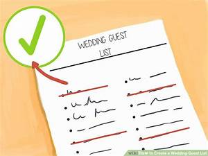 Wedding Budget Percent How To Create A Wedding Guest List 12 Steps With Pictures