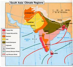 South Asia Climate Zones Map